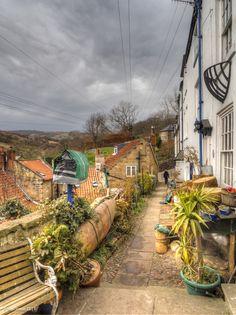 Alley, Robin hoods Bay, North Yorkshire, England Why Wait? #whywaittravels #traveldesigner 866-680-3211