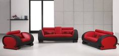 red and black couches - Google Search