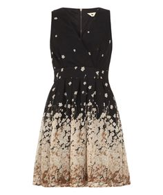 Another great find on #zulily! Black Border Floral A-Line Dress by Yumi #zulilyfinds