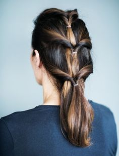 Enkel hårfrisyre