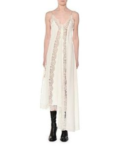 0c6f144398d Stella McCartney Designer Angie Marocaine V-Neck Sleeveless Silk Lace Cami  Dress
