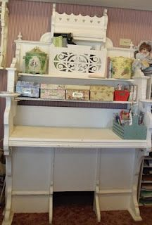 Victorian organ becomes scrapbooking center (from Pollyanna Reinvents)  This is very cool!