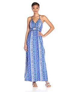 Ella moss Women's Inka Print Maxi Dress, Royal, Small- #fashion #Apparel find more at lowpricebooks.co - #fashion