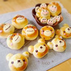 Cute Japanese Mascots Bread | aico's room | Japanese desserts | Pinterest