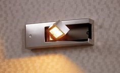 Source Concealable Wall Lamp Recessed Or Surface-Mounted With Switch by Design by Gronlund Bathroom Wall Lights, Bedroom Wall, Contemporary, Modern, Surface, Led, Lighting, Interior, Design