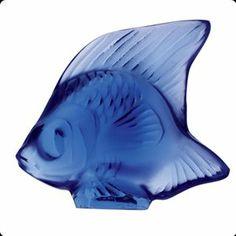 Lalique Fish Sapphire