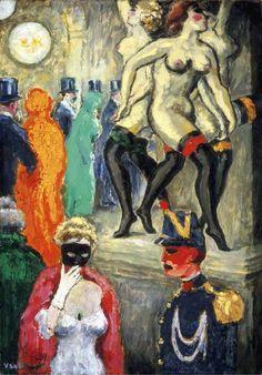 La danse de Carpeaux (Le bal masqué à l'Opéra) c. 1904 Kees van Dongen  oil on canvas