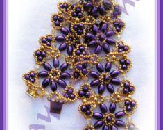 Springblooms bracelet PATTERN by jayceepatterns on Etsy
