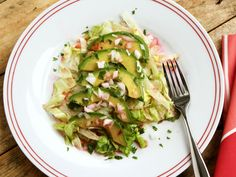 Avocado Salad with Prickly Pear Sauce #GoingGlutenFree #Avocado