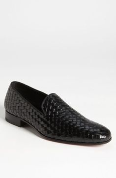 Black Woven Leather Loafers by Mezlan. Buy for $375 from Nordstrom