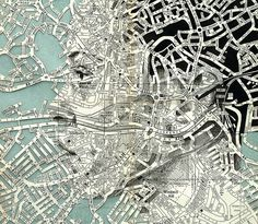 Mapped Face // Ed Fairburn on Graphic Mixed Media. Ed Fairburn has recently produced new works that live in a magical place between sculpture and drawings. Ed Fairburn, A Level Art, Arte Pop, Vintage Maps, Art Graphique, Art Plastique, Art Inspo, Collage Art, Paper Art