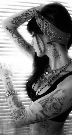 Rockabilly, hair, tattoos