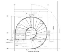 New spiral stairs architecture plan ideas Stairs Floor Plan, Stair Plan, Flooring For Stairs, Concrete Stairs, Floor Plans, Spiral Staircase Dimensions, Spiral Staircase Plan, Stair Dimensions, Spiral Staircases