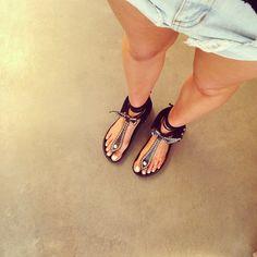 Isabel Marant thong sandals!   elle_ferguson