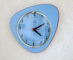 French 1950-60s Atomic Age Vedette Ato Transistor Blue Wall