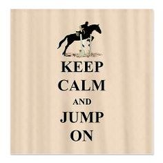 Fun Keep Calm and Jump On equestrian design. Great gift for the hunter/jumper or eventer in your life.