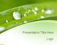 Free Nature Conservation PowerPoint template is a green background template for Microsoft PowerPoint with a very nice background design for presentations