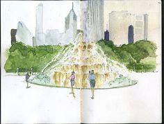 urban sketchers | Urban Sketchers Chicago: Sizzling Chicago