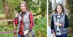 Tara Lynn's Quilted Puffer Herringbone Vest - S-XL