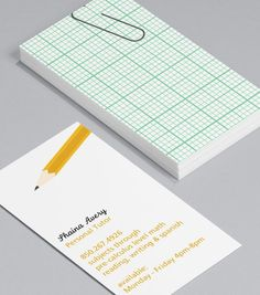 Simply Stationery: education professionals, private tutors, adult education trainers and stationery suppliers will love handing out these nostalgic standard Business Cards that remind clients learning is fun! #moocards #businesscard