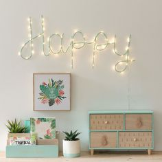 Mint Green Metal Wall-Mount Light-Up Word Accessory Study Room Decor, Cute Room Decor, Wall Decor, My Room, Girl Room, Girls Bedroom, Home Office Inspiration, Room Inspiration, Home Office Decor