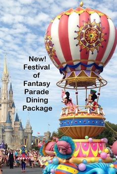 Disney World - New Festival of Fantasy parade lunch package at the Magic Kingdom.  Click to learn all about it.