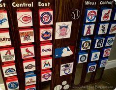 MLB standings #gift #baseball #decor