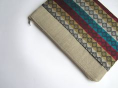 Aztec MacBook 13 sleeve with zipper and pockets by CasesLab, $27.00