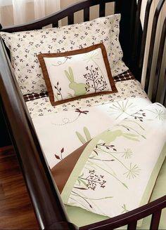 Kids Line Bunny Meadow Six Piece Crib Bedding Set 200