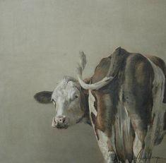 Image result for kunst annabelle lanfermeijer Cow Art, Horse Art, Deer Skull Art, Cow Drawing, Art Occidental, Cow Painting, Farm Art, Inspiration Art, Watercolor Animals