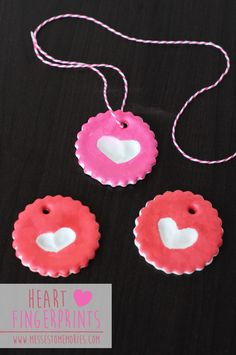 Heart Fingerprint Ornaments - These are the cutest!!  Great grandparent gift idea!