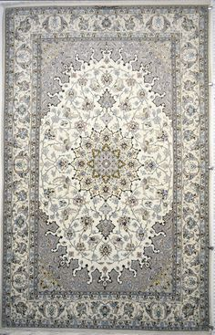Isfahan Pardeh 5'x8' persian area silk rug