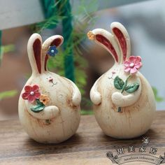Rabbit Home Decoration Bedroom Garden Outdoor Indoor Yard Bar Decor Slab Pottery, Ceramic Pottery, Pottery Art, Clay Projects, Clay Crafts, Ceramic Mugs, Ceramic Art, Sculpture Clay, Pottery Sculpture