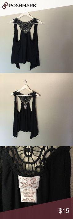 Black Lace VestNWOT Beautiful, never worn lace vest. Boutique style. Layer it for all seasons style. ✨✨✨ boutique Jackets & Coats Vests