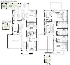 Simonds Homes Floorplan - Montpelliar New House Plans, Dream House Plans, House Floor Plans, Simonds Homes, Modern Small House Design, Pool House Designs, Passive Solar Homes, Home Design Floor Plans, Storey Homes