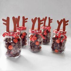 Reindeer Jars - Christmas Gift - Cute Cheap Idea