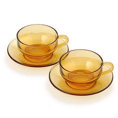 60VISION/ティーカップ&ソーサー 琥珀 5250yen 味わいのある琥珀色のカップ&ソーサー