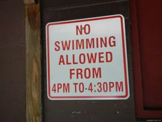 Verbote…  #allowed #no swimmimg