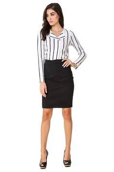 Texco Formal White Bold Striped Shirt #FormalShirt