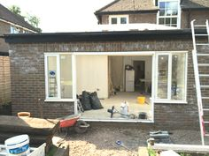 View of extension from outside - work in progress