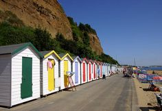 Image detail for -Small Hope Beach Huts taken on a glorious day early on before the . Beach Images, Beach Photos, Ile De Wight, The Sound Of Waves, Beach Fun, Baby Beach, Beach Cottages, Staycation, Beautiful Beaches