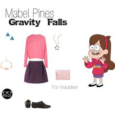 """Mabel Pines - Gravity Falls"" by closplaying on Polyvore"