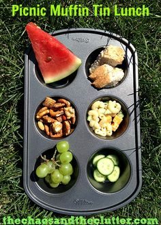 Picnic Muffin Tin Lunch
