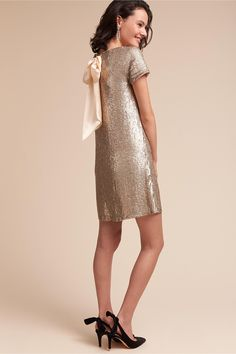 BHLDN Glitz Dress Platinum  in  Sale | BHLDN