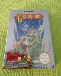 Nintendo NES: Castlevania (PAL Sealed)  The first of two games I got sealed for the Nintendo NES a long time ago. This one is the world-wide famous Castlevania aka Akumajou Dracula in Japan.  Not many games have been as fruitful as the Castlevania series. They define a game genre a gaming landscape and even a generation of games.  However as time went by some other Castlevania games have reached newer consoles. Some you like some you don't. For me Super Castlevania IV Castlevania Bloodlines…