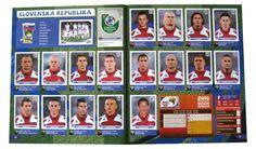 Panini Checkliste WM 2010 Slowakei Sticker eingeklebt Fifa, Team Usa, Samara, Ronaldo, Mexico 68, Panini Sticker, South Africa, Album, Baseball Cards