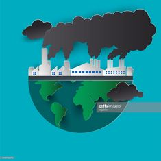 View top quality illustrations of Air Pollution. Find premium, high-resolution illustrative art at Getty Images. World Pollution Day, Pollution Environment, Global Warming Poster, Global Warming Climate Change, Poster On Pollution, Air Pollution Project, Drawing For Kids, Art For Kids, Poster Drawing
