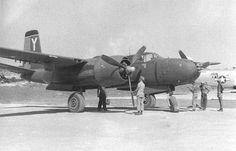 Eight gun nose A-26 Invader, 8BS/3BG Machinato Airfield, Okinawa 20 August 1945. #WWII #WW2 #Aviation #History