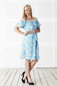 Платья и юбочки с ромашковым принтом! Ромашки в голубом и в розовом цвете! Платье (6900) Посмотреть на сайте http://www.fedorastudio.ru/shop/bag/card/ru.5907.htm Наш тел. 8 916 302 0 222  Ждем Вас на примерку! Вам понравится!