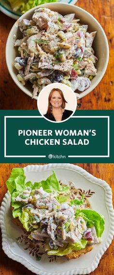 The Pioneer Woman's Chicken Salad Is So Good, I Can't Stop Eating It Straight from the Fridge - Moyiki Sites Easy Salad Recipes, Chicken Salad Recipes, Dinner Recipes, Healthy Recipes, Chicken Salads, Simple Chicken Salad, Chicken Salad Wraps, Chicken Salad Sandwiches, Chicken Salad Recipe Food Network